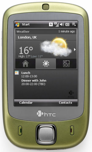 htc touch wasabi green