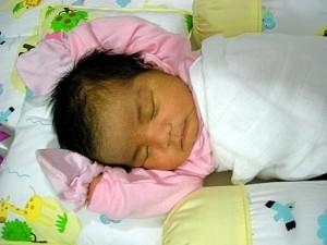 Baby sleeping style
